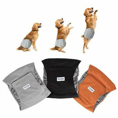 Reusable Male Dog Diapers (Pack of 3), Washable Puppy Belly Band