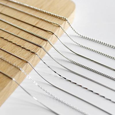 REAL Fashion Classic  925 Sterling Silver Chain Necklace SOLID Jewelry Italy