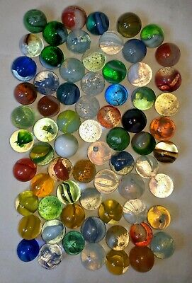 12X lot Vintage//Antique amber//red glass aggots//marbles