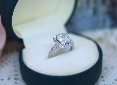 Vintage Jewellery Ring With White Sapphires Antique Art Deco Jewelry Size 5 or J