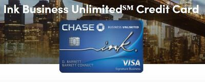 $500 Sign Up Bonus for Chase Ink Unlimited Business Credit Card Referral + $95