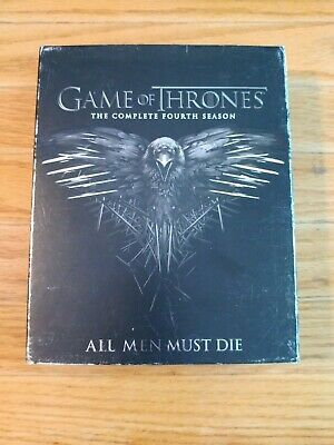 Game of Thrones:The Complete fourth Season (Blu-Ray,2015 5-Disc Set)Watched Once