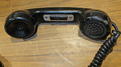 Vintage Western Electric G5 Push to Talk Telephone Military Ham Radio Handset