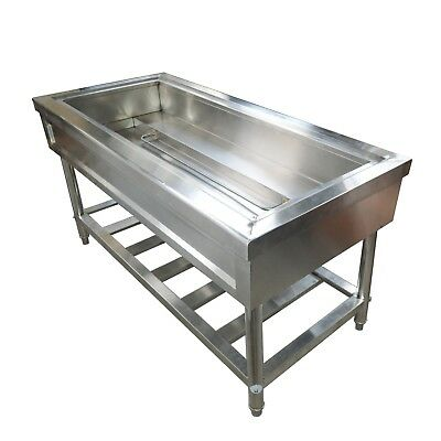 INTBUYING 4-Well Food Warmer Steam Table Countertop Kitchen Supply 220V