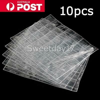 10X 42 Pockets Coin Holders Folder Pages Collection Album Storage Book Sleeve AU