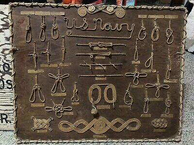 Old!! Handcrafted Vintage US Navy Nautical Knot Board
