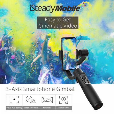 Hohem ISteady Mobile + 3-Axis Gimbal Stabilizzatore Zoom Ctrl Per iPhone J1L4