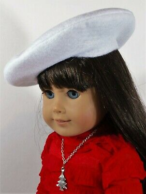 Berets Set Of 3 White Pink Gray For 18 In American Girl Doll Hat Accessories