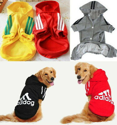 Adidog Small / Large Puppy Pet Dog Cat Clothes Jacket Hoodie Vest Shirt Jumpsuit