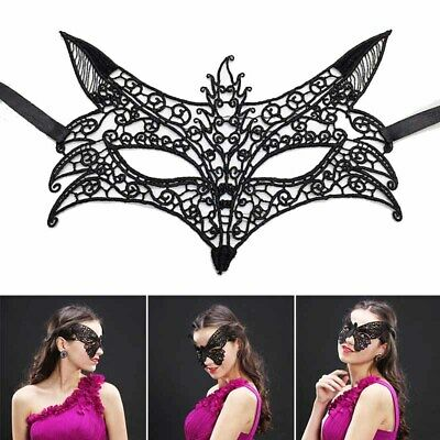 Sexy Women Black Lace Eye Face Mask Masquerade Party Ball Prom Costume Decor