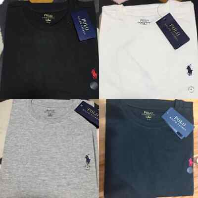 polo ralph lauren tshirt short sleeve crew neck embroided logo