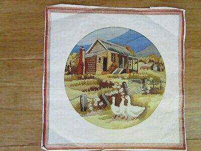 Semco Partly Stitched Long Stitch Kit Of Old Miners Cottage.  29 Cm Aperture.