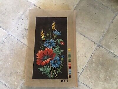Floral Printed Canvas To Be Worked