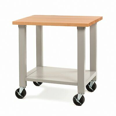 Seville Classics UltraHD Mobile Workstation Rolling Work Table Bench Workbench