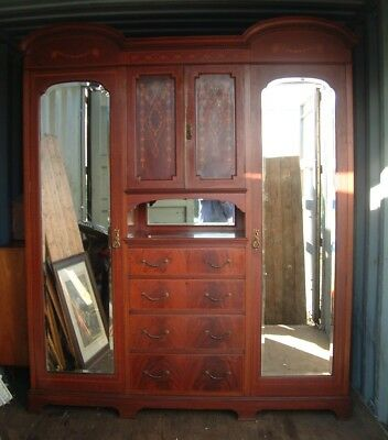 Large Antique Mahogany Compactum Wardrobe MAPLE & Co LONDON & PARIS