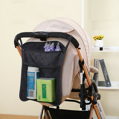 Baby Pram Stroller Pushchair Safe Net pocket Cup Holder Organizer Hanging Bag ZE