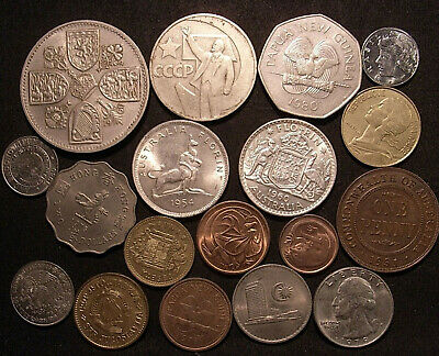 World Coins inc 2 silver - Australia, Asia/Oceania, USA, PNG, UK/Europe