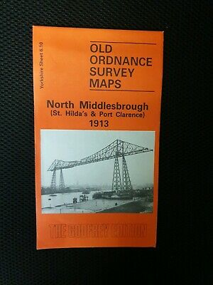 Old Ordnance Survey Map North Middlesbrough 1913