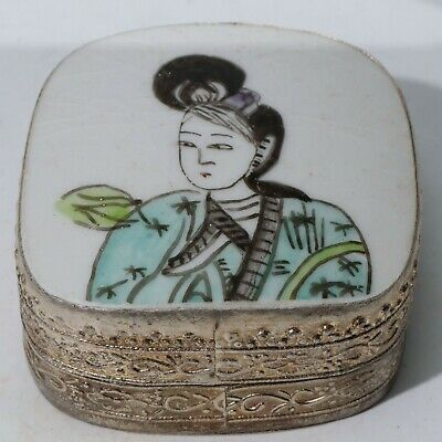Chinese Exquisite copper Carved box statue