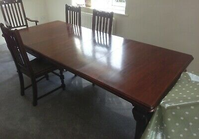 Extending Mahogany wind-out Victorian dining table - 5-8ft x 3ft 6""