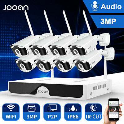 JOOAN 8CH 1080P Wireless HDMI NVR Outdoor IP WIFI Camera  Home Security System