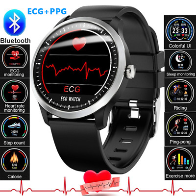 ECG Smart Watch Heart Rate Monitor Bluetooth Bracelet for Samsung IOS Android AU