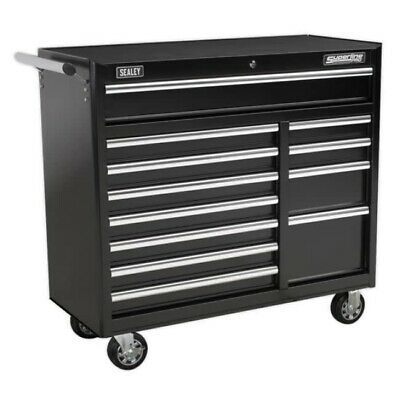 Sealey AP41120B Rollcab 12 Drawer with Ball Bearing Runners Heavy-Duty - Black