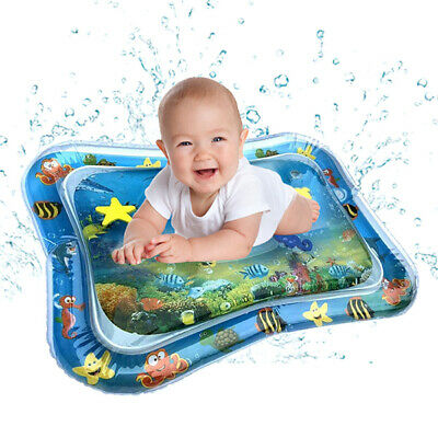 UK Baby Water Play Mats Premium Tummy Time Inflatable Water Mat For Infants Fun