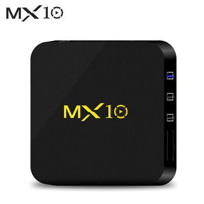 MX10 4G+32G Smart TV BOX Android 9.0 RK3328 Quad Core 4K USB 3.0 WiFi Media I0Z5