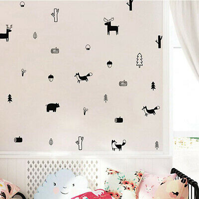 Decoration Nordic Style Modern Decals Woodland Mural  Wall Stickers Wall Art