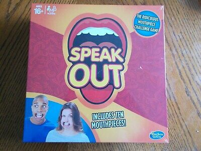 Speak Out Adults Mouthpiece Challenge Board Game by Hasbro 2016 Hard to Speak