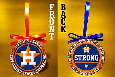 "Houston Astros-2017 World Series Champs-Houston Strong-3"" Ornament-FREE SHIP"