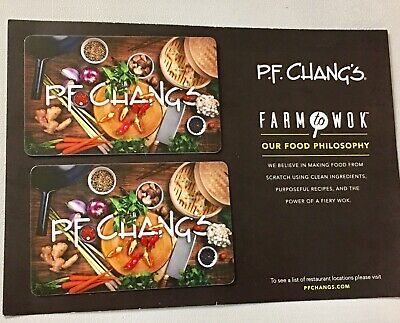 Pf Changs 2 $50 Gift Card For $95