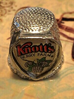 Vintage Pewter Thimble Knotts Berry Farm Souvenir