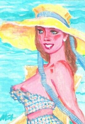 SUMMER CLEARANCE 'Country Glam' ACEO Signed Original Painting fashion