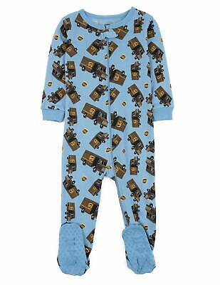Leveret UPS Truck Baby Girls Boys Footed Pajamas Sleeper 100% Cotton Kids &