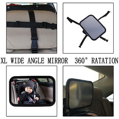 Baby Safety Car Seat Rear View Mirror Facing Back Infant Kids Toddler Ward@F