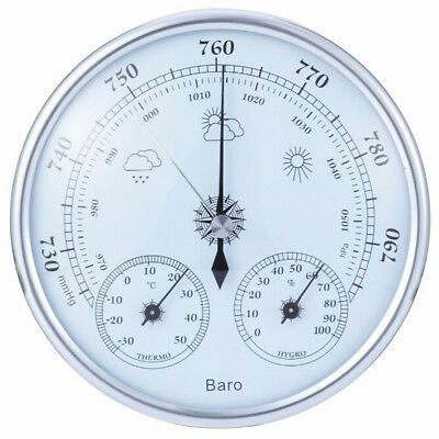 Analog wall hanging weather station 3 in 1 barometer thermometer hygrometer@F