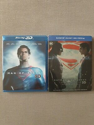 Lot blu ray 3d Man Of Steel Et Batman vs Superman