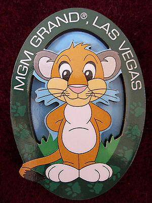 BRAND NEW IN PACKAGE 3D Refrigerator Magnet MGM Las Vegas Cartoon/Anime Lion Cub