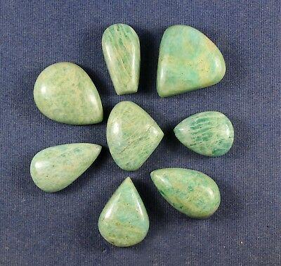 Mix Lot Natural 190.90cts Amazonite Smooth Fancy Cabochon Loose Gemstone 8pcs