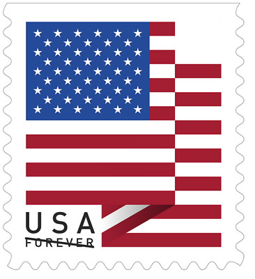 USPS Forever Stamps, Coil of 100 US Flag Postage Stamps