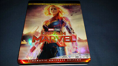 Captain Marvel (Blu-Ray, 2019) 4K CASE AND Slipcover PLEASE READ