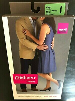 Mediven Comfort Closed Toe Pantyhose - 20-30mmHg - Size III - Natural - 46903