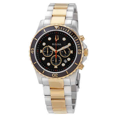 Bulova Chronograph Quartz Black Dial Men's Watch 98B327