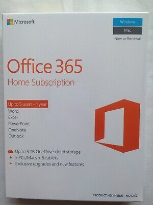 Microsoft Office 365 Home 6 Devices BNIB Sealed