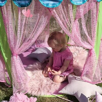 Girls Play Tent Fairy Castle Pop Up Play Tent Party Indoor Outdoor Garden Toys