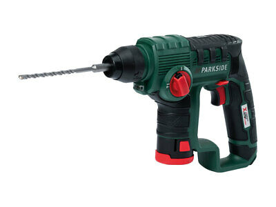 Parkside 12V SDS-Plus Cordless Hammer Drill Handy Workshop Fixing Fitting Tool