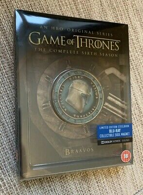 Game Of Thrones Season 6 Blu Ray Steelbook Mint Condition with Sigil magnet