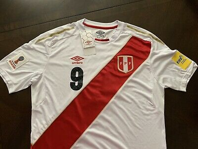 new arrival 45790 febb8 UMBRO PERU NATIONAL Team jersey 2018 Paolo Guerrero #9 size L